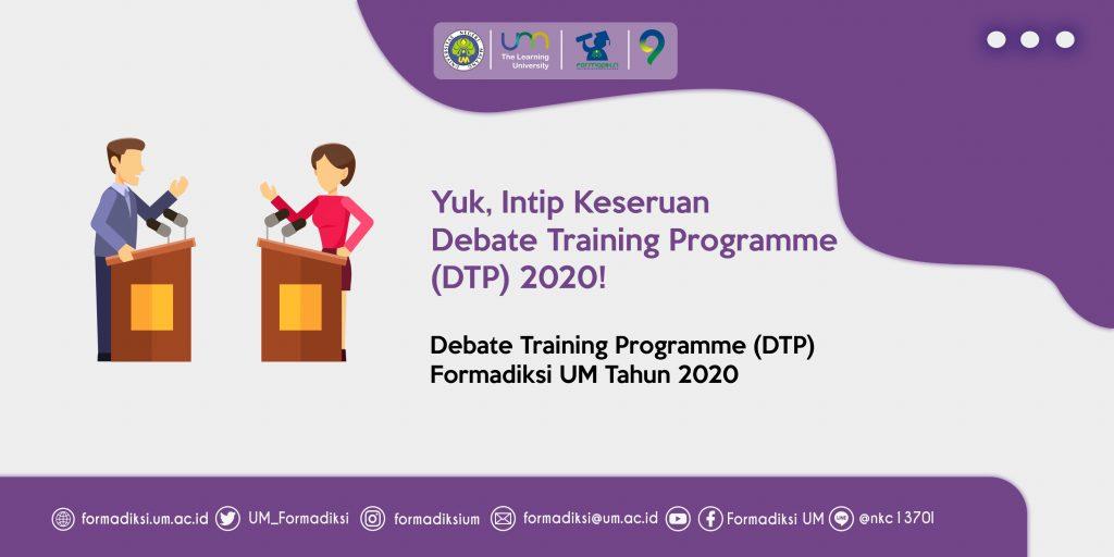 Yuk, Intip Keseruan Debate Training Programme (DTP) 2020!