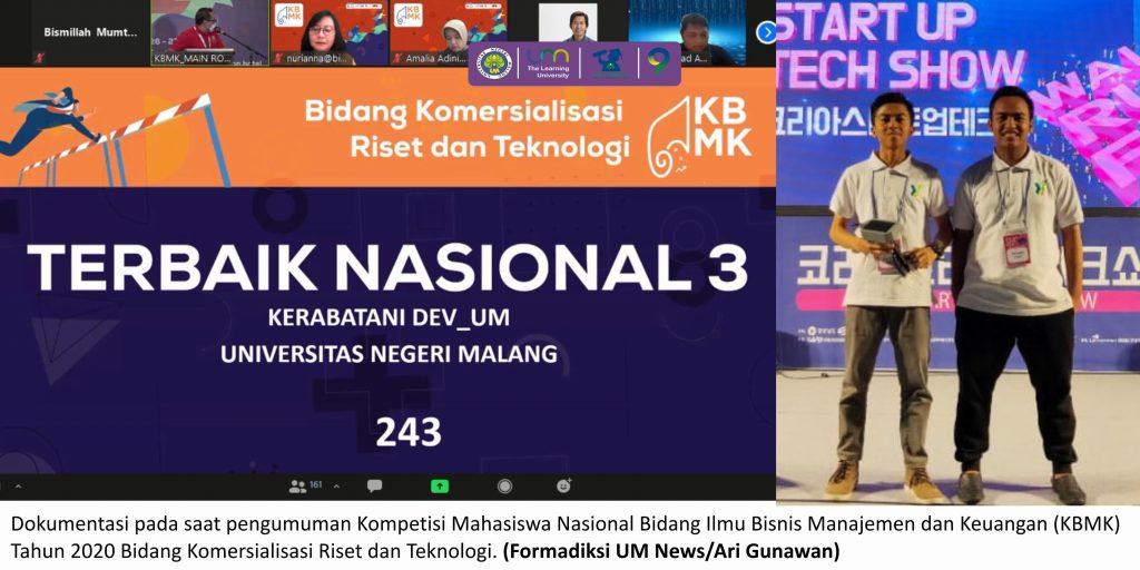 Usung KerabaTani, Ari dan Tim Sabet Juara 3 KBMK 2020