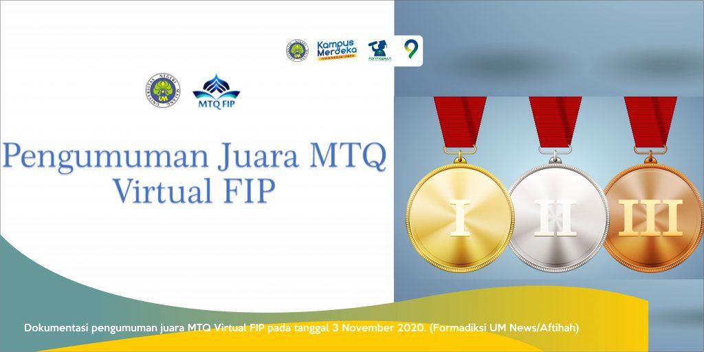 Borong Prestasi pada Ajang MTQ Virtual FIP 2020