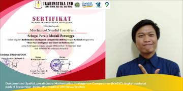 Sabet Medali Perunggu Ajang MATIC Tingkat Nasional, Syaiful: Sempurnakan Proses!