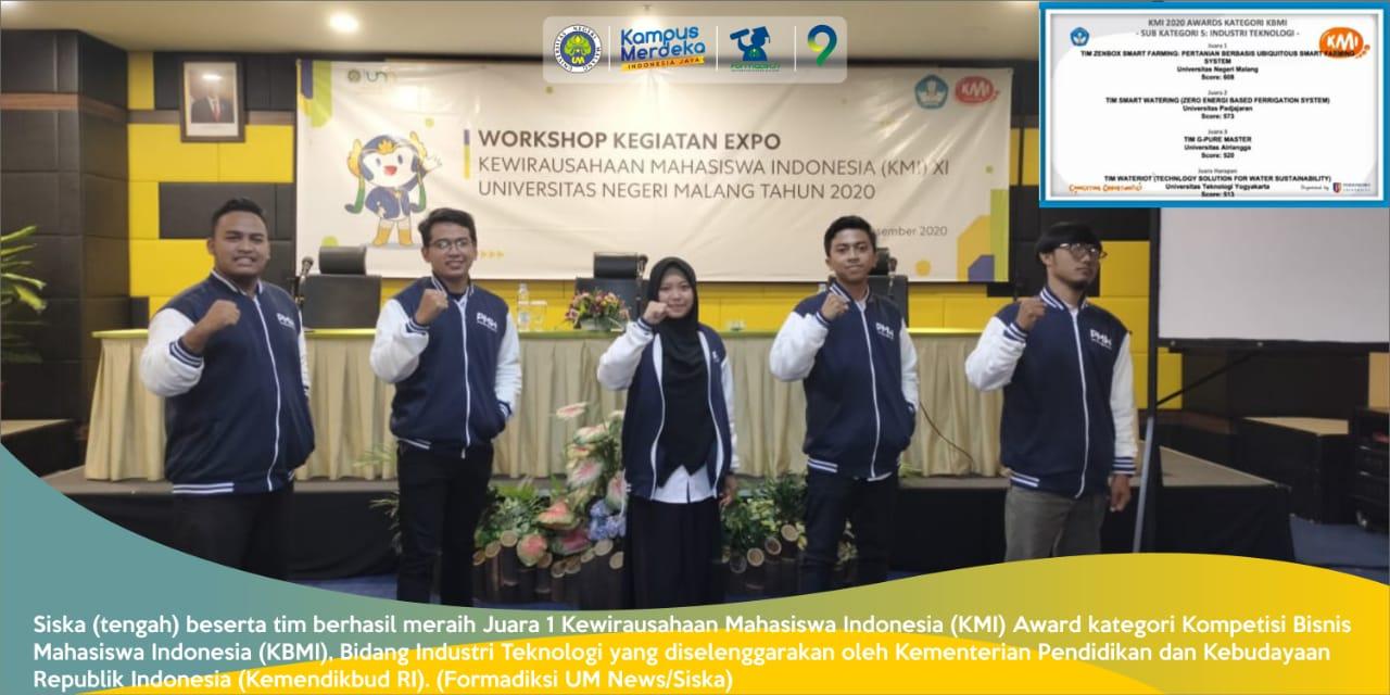 Raih Juara 1 KMI Award, Berprestasi Meskipun di Masa Pandemi, Pestasi Mahasiswa Bidikmisi